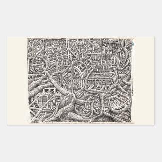 Pipescape, by Brian Benson Rectangular Sticker