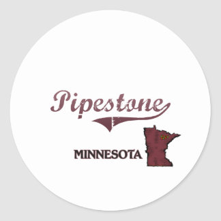 Pipestone Minnesota City Classic Classic Round Sticker