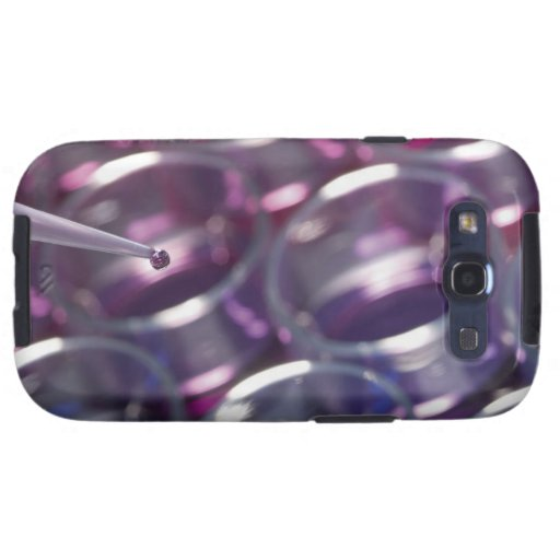 Pipeta y placas de Petri con los líquidos Samsung Galaxy S3 Protector