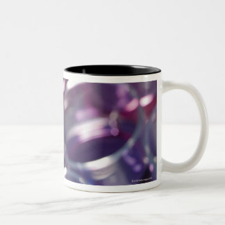 Pipette and petri dishes with fluids Two-Tone coffee mug