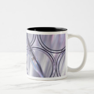 Pipette in Test Tube Two-Tone Coffee Mug