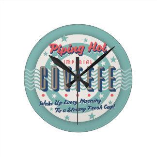 Piping Hot Covfefe Round Clock