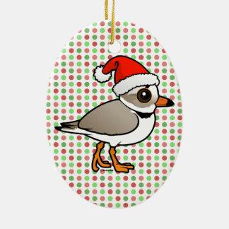 Piping Plover Santa Christmas Ornament