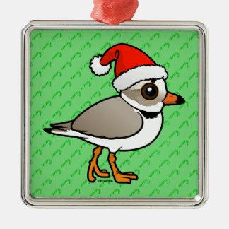 Piping Plover Santa Christmas Tree Ornaments
