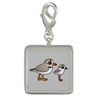 Piping Plover with chick Charm