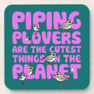 Piping Plovers are the Cutest Things on the Planet Beverage Coaster