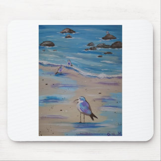 piping plovers mouse pad
