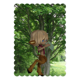 Piping Satyr Card