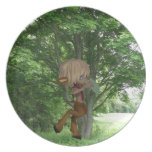 Piping Satyr Dinner Plate