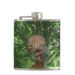 Piping Satyr Flask