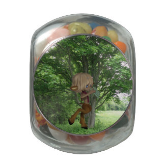 Piping Satyr Jelly Belly Candy Jars