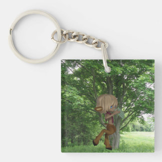 Piping Satyr Keychain