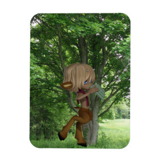 Piping Satyr Magnet
