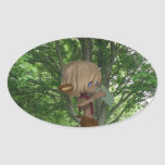 Piping Satyr Oval Sticker