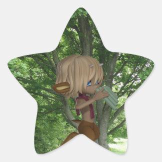 Piping Satyr Star Sticker