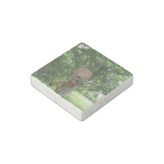 Piping Satyr Stone Magnet