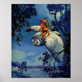 Pipkin the Elf Vintage Childrens Book Fantasy Art Poster