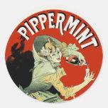 Pippermint Round Sticker