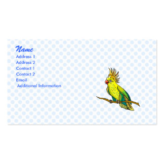 Pippin Parrot Double-Sided Standard Business Cards (Pack Of 100)