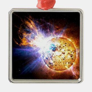 Pipsqueak Star Unleashes giant Flare NASA Metal Ornament