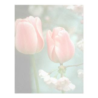"""Pique al """"par Gynt"""", las flores de los tulipanes Membrete A Diseño"""