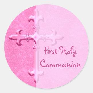 Pique al primer pegatina de la comunión santa