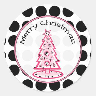 Pique con el pegatina negro del árbol de navidad