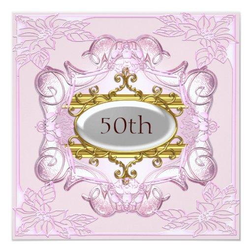 """Pique el 50.o aniversario del cumpleaños invitación 5.25"""" x 5.25"""""""