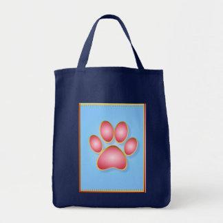 """Pique el bolso de la pata del gatito del oro de """"n bolsa tela para la compra"""