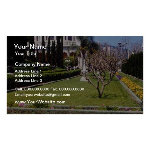 Pique el centro de la fe de Bahai, Haifa, I del mu Tarjeta De Visita