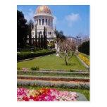 Pique el centro de la fe de Bahai, Haifa, I del mu Tarjeta Postal