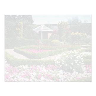 Pique el jardín emparedado, Sewerby, flores de Gra Membrete A Diseño