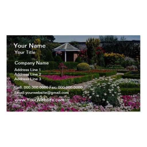 Pique el jardín emparedado, Sewerby, flores de Gra Plantilla De Tarjeta De Visita