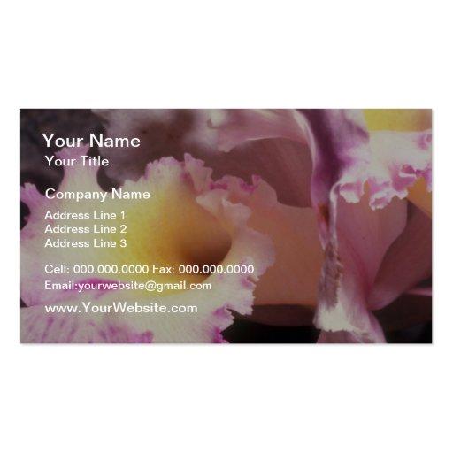 Pique el tacto de A de las flores violetas Plantilla De Tarjeta De Visita