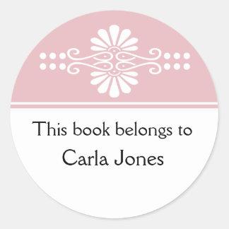 Pique este libro pertenece a las etiquetas pegatina redonda