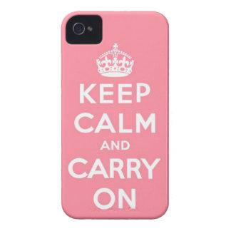Pique guardan calma y continúan iPhone 4 Case-Mate cárcasas