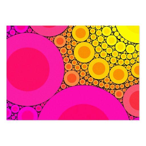Pique para amarillear el mosaico de los círculos tarjetas de visita