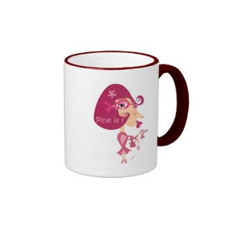 Piqúelo cinta rosada tazas de café