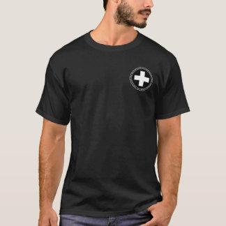 Piqueros suizos negros y camisa blanca del sello