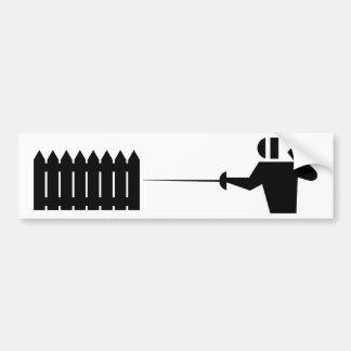 Piquete fencing_2 pegatina de parachoque