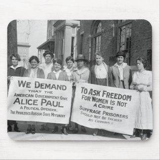 Piquetes del sufragio de las mujeres, 1917 alfombrillas de ratones