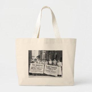Piquetes del sufragio de las mujeres, 1917 bolsa tela grande