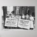 Piquetes del sufragio de las mujeres: 1917 póster