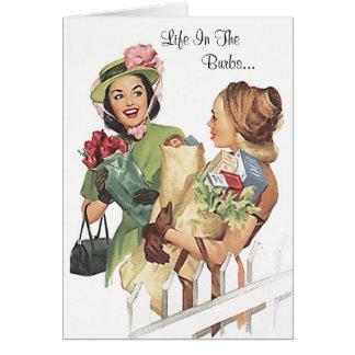 Piquetes divertidos y chisme de los rosas de la tarjeta de felicitación