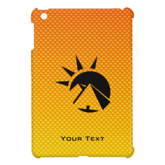 Pirámide amarillo-naranja iPad mini cárcasa