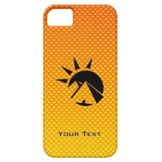 Pirámide amarillo-naranja iPhone 5 cárcasas