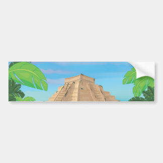 Pirámide azteca etiqueta de parachoque