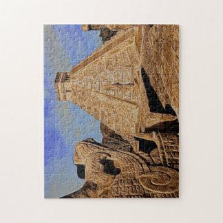 Pirámide azteca rompecabeza con fotos