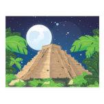 Pirámide azteca tarjeta postal