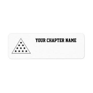 Pirámide B de la sigma pi+W Etiqueta De Remite